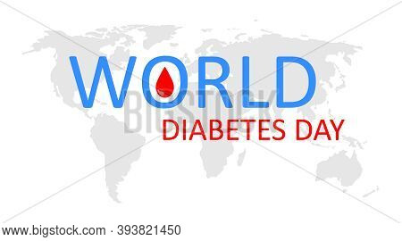 World Day Of Diabetes. Icon Of Diabetic Awareness. Logo Of International Care For Patient With Diabe
