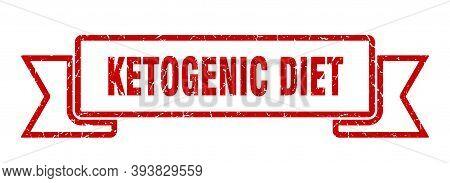 Ketogenic Diet Ribbon. Ketogenic Diet Grunge Band Sign. Ketogenic Diet Banner