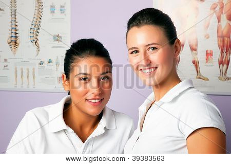 Young Women Portrait Physiotherapists