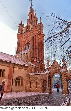 Catholic Church Of St. Anne In Vilnius - Catholic Church, A Monument Of Gothic Architecture, One Of