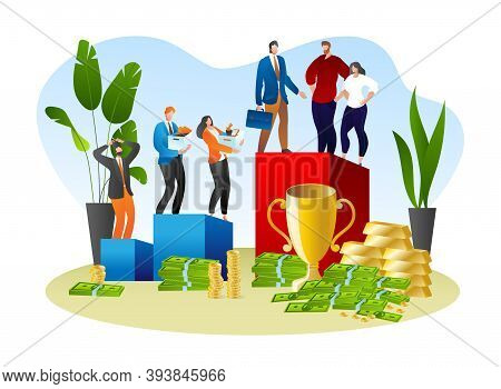 Social Inequality In Work Career, People Discrimination Concept Vector Illustration. Corporate Gende