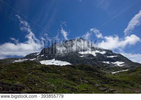 Mountain Panorama At The Alpine Pass Susten