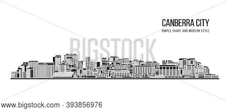 Cityscape Building Abstract Shape And Modern Style Art Vector Design -   Canberra City