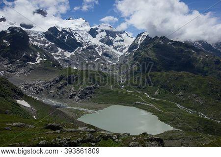 Lake At The Alpine Pass Susten Between Uri And Bern