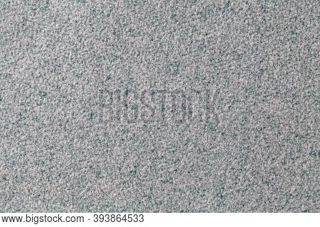 Gray Fluffy Background Of Soft, Fleecy Cloth. Texture Of Wool Textile Backdrop, Closeup.