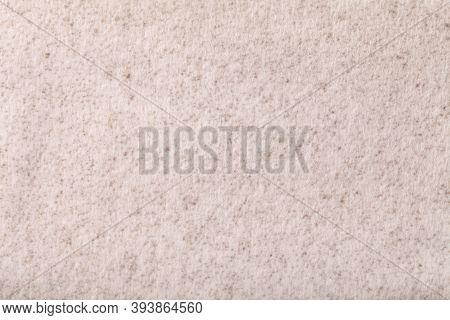 Light Beige Fluffy Background Of Soft, Fleecy Cloth. Texture Of Cream Color Wool Textile Backdrop, C
