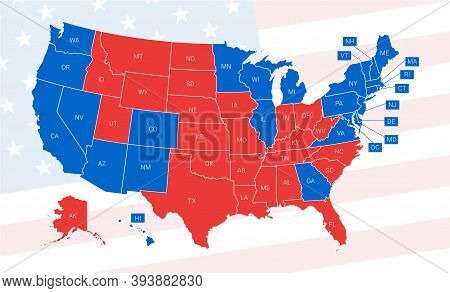 Us Election Results Map. American Presidential Election Results.
