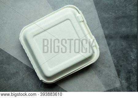 Unbleached Plant Fiber Food Box. Natural Plant Fiber Food Box