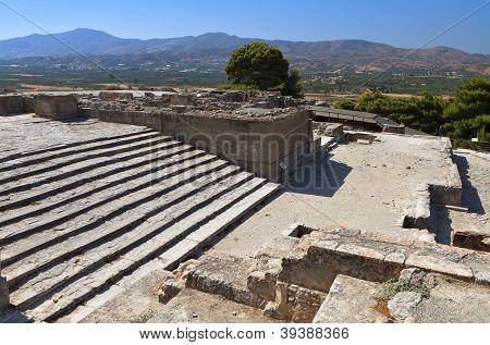 Ancient Phaestos at Crete, Greece