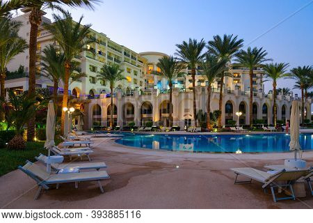 Sharm El Sheikh, Egypt - September 15, 2020: Territory Of Popular Stella Di Mare Sharm Beach Hotel &