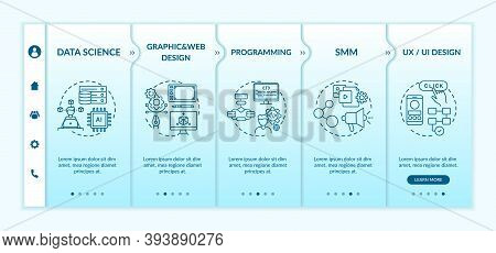 Top Careers In It For Creative Thinkers Onboarding Vector Template. Programming. Social Media Market