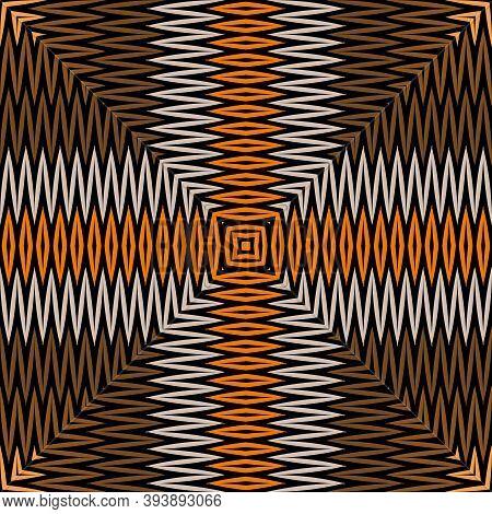 Chevron Embroidery Tartan Vector Seamless Pattern. Zigzag Stitching Textured Tribal Ethnic Backgroun