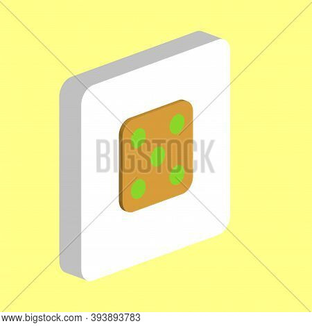 Dice 5 Simple Vector Icon. Illustration Symbol Design Template For Web Mobile Ui Element. Perfect Co