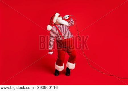 Full Length Body Size View Of His He Handsome Bearded Talented Santa Mc Pj Soloist Vocalist Star Sin
