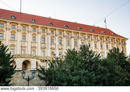 Prague, Czech Republic - September 19, 2020. Building Of Ministry Of Foreign Affairs In Cernin Palac