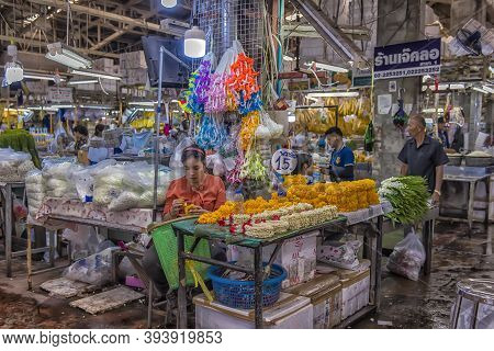 "Flower Market Name ""pak Klong Talad"" There Are Many Beautiful And Cheap Flowers At This Market Not F"