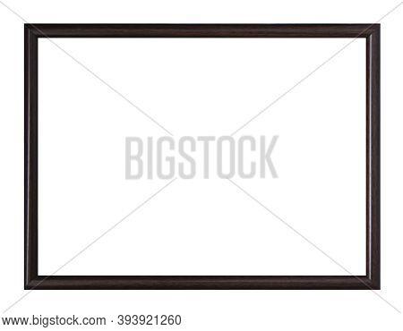 Dark Frame Isolated On White Background. Design Element. Blank For Your Copy. Black Photo Frame Isol