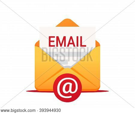 Email Vector Icon. Envelope With Email. Email Message, Infographic, Working Process, Searching Mail,