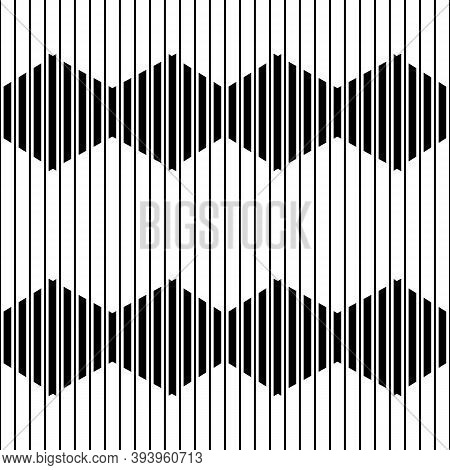 Lines, Stripes, Strokes Seamless Pattern. Modern Ornate. Striped Image. Lined Background. Linear Orn