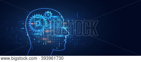 Artificial Intelligence Business Concept. Technology And Engineering Web Background. Future Internet