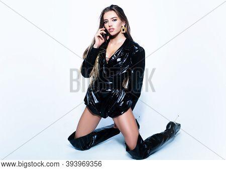 Seductive Young Woman. High Fashion Female Model.