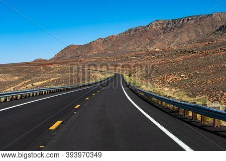 Route 66 In California. Asphalt Road In Usa. American Roadtrip