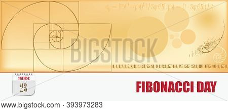 Post Card For Event November Day Fibonacci Day
