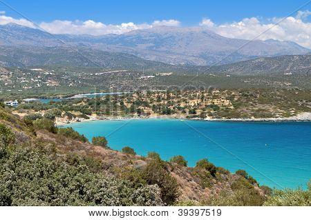 Mirabello bay at Crete island in Greece near Aghios Nikolaos city poster