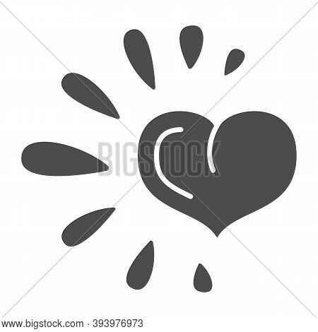 Healthy Heart Solid Icon, Healthy Lifestyle Concept, Life Without Drug Sign On White Background, Hea