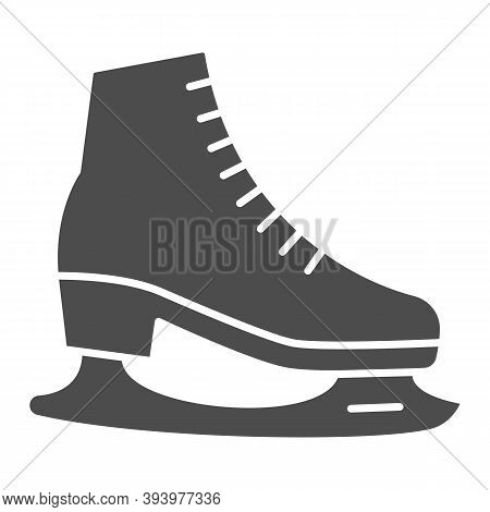 Skates Solid Icon, World Snow Day Concept, Skating Sign On White Background, Hockey Skates Symbol In