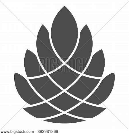 Pine Cone Solid Icon, New Year Concept, Pinecone Sign On White Background, Cedar Cone Icon In Glyph