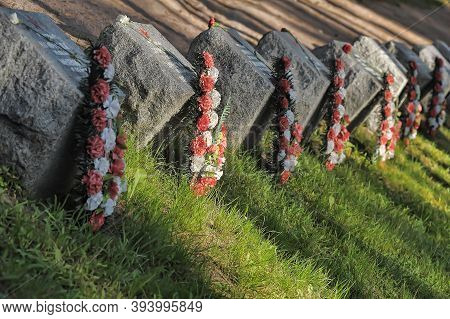 Russia, St. Petersburg, 21,09,2014 Burial Of Soldiers Killed In The Defense And Breakthrough Of The