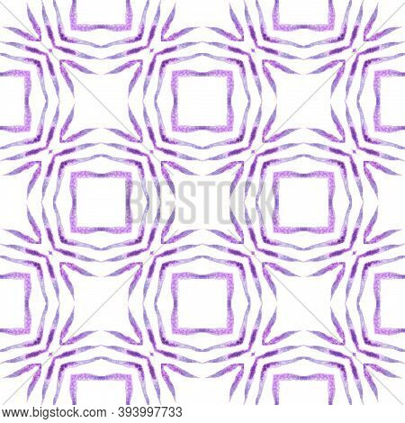 Textile Ready Elegant Print, Swimwear Fabric, Wallpaper, Wrapping.  Purple Exotic Boho Chic Summer D