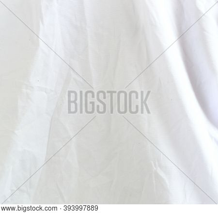 White Wrinkle Fabric Texture As Beautiful Background