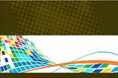 Abstract halftone mosaic wave background. Vector illustration. poster