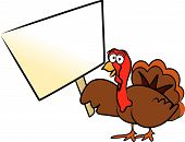 Vector Cartoon Thanksgiving Turkey Holiday Design / Drawing poster