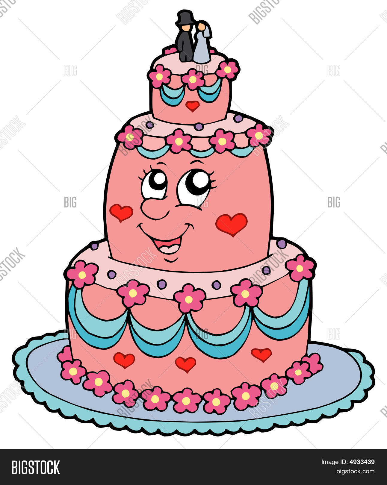 cartoon picture of a wedding cake wedding cake vector amp photo bigstock 12418