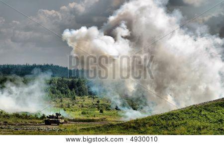 Smoke Screen And Tank