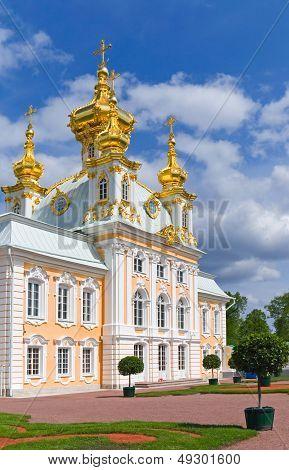 Grand Palace Peterhof. Petrodvorets, Saint-petersburg, Russia
