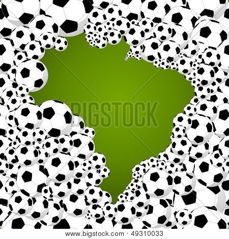 Brazil Country Shape Soccer Balls.