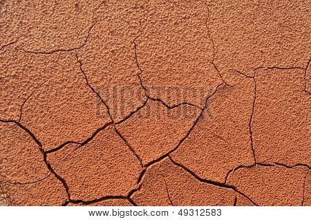 Cracked natural clay as background