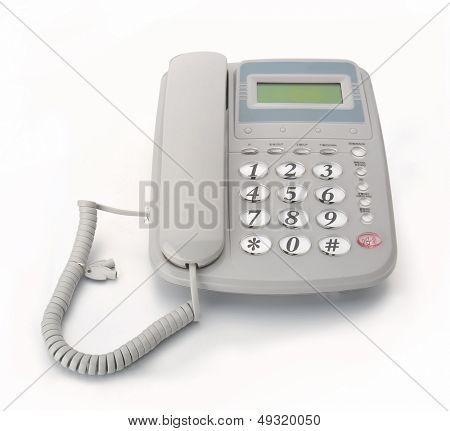 Digital telephone set, on-hook