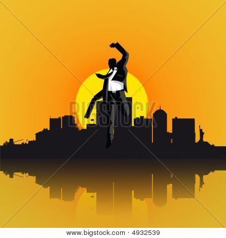 Businessman Jumping