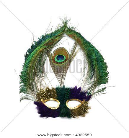Mardi Gras Peacock Mask