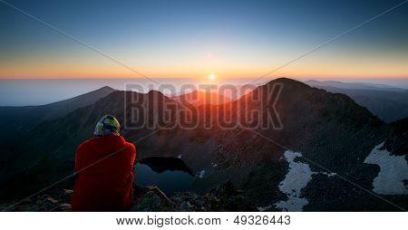 Man And Sunrise