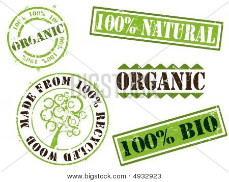 Organic And Ecology Rubber Stamps