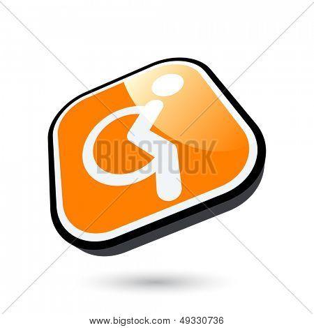 modern handicap sign