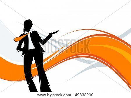 modern business woman background