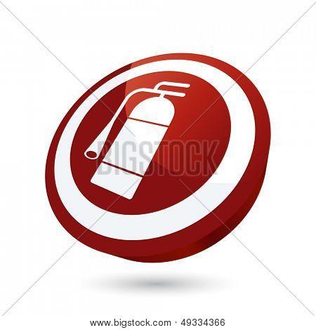 modern extinguisher sign