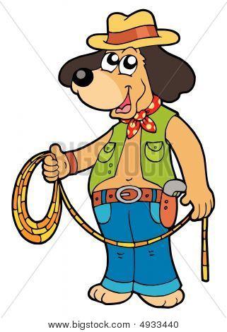 Cowboy Dog With Lasso